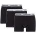 Bjorn Borg Men's Contrast Solids Triple Pack Boxer Shorts - Black: Image 1