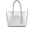 MICHAEL MICHAEL KORS Jet Set Travel Top Zip Tote Bag - Silver: Image 1