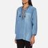 Maison Scotch Women's Drapey Woven Top - Blue: Image 2