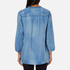 Maison Scotch Women's Drapey Woven Top - Blue: Image 3