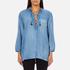 Maison Scotch Women's Drapey Woven Top - Blue: Image 1