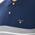 GANT Men's Dropped Stripe Pique Polo Shirt - Persian Blue: Image 5