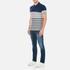 GANT Men's Dropped Stripe Pique Polo Shirt - Persian Blue: Image 4