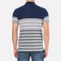 GANT Men's Dropped Stripe Pique Polo Shirt - Persian Blue: Image 3