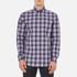 GANT Men's Dobby Plaid Shirt - Yale Blue: Image 1