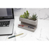 Concrete Desktop Planter and Pen Holder - Large: Image 1
