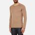 HUGO Men's San Francisco Cotton Silk Cashmere Jumper - Light/Pastel Brown: Image 2