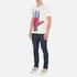 YMC Men's Hamsa Psych T-Shirt - White: Image 4