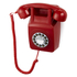 GPO Retro 746 Push Button Wall Telephone - Red: Image 1