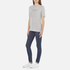 Cheap Monday Women's Break T-Shirt with Placed Text - Grey Melange: Image 4