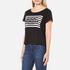 Cheap Monday Women's Had Stripe Logo T-Shirt - Black: Image 2