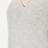 Theory Women's Adrianna Cashmere Jumper - Soft Grey/Moss: Image 5