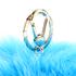 Furla Women's Bubble Keyring Pom Pom - Blue: Image 2