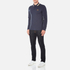 BOSS Green Men's Plisy Long Sleeve Polo Shirt - Blue: Image 4