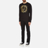 Versace Jeans Men's Large Print Long Sleeve T-Shirt - Black: Image 4