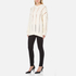 Alexander Wang Women's Crew Neck Cable Long Sleeve Jumper with Intarsia Slits - Bone: Image 4