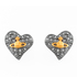 Vivienne Westwood Jewellery Women's Tiny Diamante Heart Stud Earrings - Black: Image 1