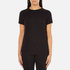 Helmut Lang Women's Medium Weight Cotton Jersey Slash Hem T-Shirt - Black: Image 1