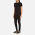 Helmut Lang Women's Medium Weight Cotton Jersey Slash Hem T-Shirt - Black: Image 4