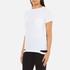 Helmut Lang Women's Medium Weight Cotton Jersey Slash Hem T-Shirt - White: Image 2