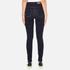Vero Moda Women's Nine High Waisted Denim Jeans - Dark Blue Denim: Image 3