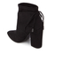 Kendall + Kylie Women's Zola Suede Heeled Ankle Boots - Black: Image 4