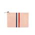 Clare V. Women's Margot Flat Clutch Bag - Blush Navy Cream/Red Stripes: Image 1