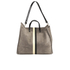 Clare V. Women's Supreme Simple Tote Bag - Dark Grey Suede With Black/White Stripes: Image 6