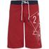 Smith & Jones Men's Amplitude Swim Shorts & Flip Flops - Rift Red: Image 1