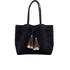 Loeffler Randall Women's Suede Drawstring Tote Bag - Black/Black Natural: Image 1