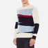 GANT Rugger Men's Intarsia Block Jacquard Jumper - Cream: Image 2