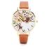 Olivia Burton Women's Flower Show Watercolour Watch - Tan Gold: Image 1