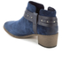 Clarks Women's Breccan Shine Suede Heeled Ankle Boots - Navy: Image 4