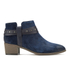 Clarks Women's Breccan Shine Suede Heeled Ankle Boots - Navy: Image 1