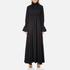 KENZO Women's Crepe Back Satin Maxi Dress - Black: Image 1