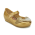 Mini Melissa Vivienne Westwood Toddlers' Ultragirl 16 Ballet Flats - Gold Glitter: Image 2