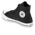 Converse Women's Chuck Taylor All Star Sting Ray Leather Hi-Top Trainers - Black/Black/White: Image 4