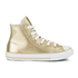 Converse Kids' Chuck Taylor All Star Metallic Leather Hi-Top Trainers - Light Gold/White/White: Image 1