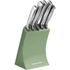 Morphy Richards 974802 5 Piece Knife Block Sage Green: Image 1