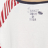 Maison Scotch Women's Long Sleeve Baseball T-Shirt with Cool Artworks - White: Image 7