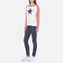 Maison Scotch Women's Long Sleeve Baseball T-Shirt with Cool Artworks - White: Image 4