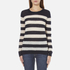 Maison Scotch Women's Striped Crew Neck Jumper - Multi: Image 1