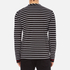 McQ Alexander McQueen Men's Long Sleeve Crew Stripe T-Shirt - Stripe White/Black: Image 3