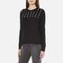 MICHAEL MICHAEL KORS Women's Slash Neck Crew Sweater - Black: Image 2