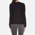 MICHAEL MICHAEL KORS Women's Slash Neck Crew Sweater - Black: Image 3