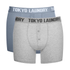Tokyo Laundry Men's 2-Pack Port Douglas Boxers - Ashley Blue/Ice Grey Marl: Image 1