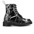 Dr. Martens Women's Pascal Patent Marble 8-Eye Boots - Black: Image 1
