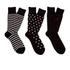 Polo Ralph Lauren Men's 3 Pack Socks - Dot Black: Image 2