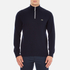 Lacoste Men's Half Zip Funnel Neck Sweatshirt - Navy Blue/Silver Chine: Image 1