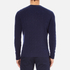 Lacoste Men's Crew Neck Cable Stitch Jumper - Midnight Blue/Chine: Image 3